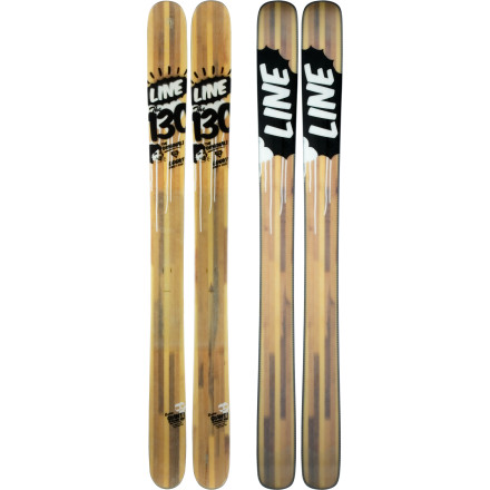 Ski The Line 130 is the Bob Dylan of legit pow skis--this early-rise-tipped behemoth started the ski-above-it revolution. This erstwhile prophet likes big faces and deep days, but don't shy away from the trees and tights--the rockered tip is nimble like you won't believe. - $299.98