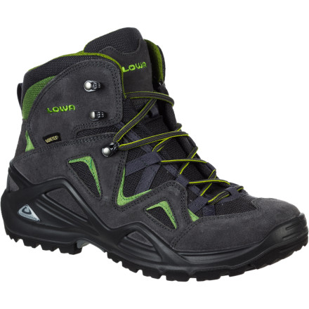 Fitness For solid lateral support that doesn't feel like a lead brick on your foot, lace up the Lowa Zephyr GTX Mid Hiking Boot. The PU Monowrap Frame supplies the stability you need to traverse boulder fields and descend loose trails without rolling your ankle while the Gore-Tex lining ensures you'll stay dry and comfy in rain-soaked conditions. - $155.96
