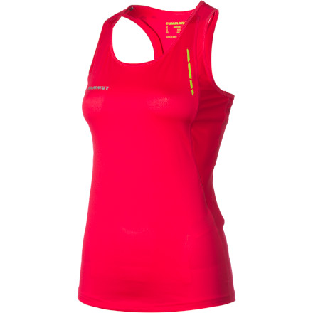 Fitness The sun is high, and the heat is on. Pull on the super-light Mammut Women's MTR 71 Tank Top with breathable, quick-drying VENtech, and go for that hardcore run without succumbing to energy-zapping discomfort. The stretchy VENtech lets you go full-throttle without restriction, and flatlock athletically designed seams won't chafe or create hot spots. With reflective logos and an odor-fighting antimocrobial, you can go the distance and break your own record. - $48.95