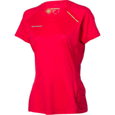Fitness When the temps are high or the action is hot, the Mammut Women's MTR 71 Shirt will keep you cool and dry. Made from highly breathable and stretchy VENtech, this quick-drying and ultralight top provides plenty of ventilation and mobility. Flatlock athletically designed seams won't chafe or get in the way, and reflective logos and an antimicrobial will keep you visible and fresh when your workouts go long into the night. - $54.95
