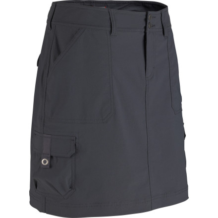 Escape the everyday world wearing the Marmot Women's Oasis Cargo Skort. Whether your destination is an overgrown jungle ruin, a yurt beside an alpine lake, or a special cafe at the center of a centuries-old town, this skort has the stretch, durability, overall comfort, and clean style you'll appreciate. - $69.95