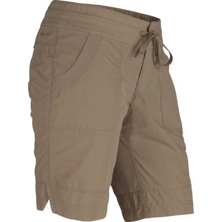 Marmot added a little nylon to the cotton canvas of the Women's Lexi Short to make it more durable and faster-drying. But it still gives you the cool comfort of cotton, and then some: garment-washing has made this versatile short extra-soft, so it's a go-to choice for summer outings from hikes to backyard barbeques. - $64.95