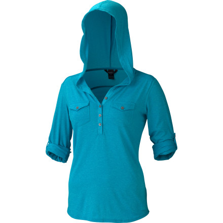 Surf From the mountains to the beach, the Marmot Women's Laura Hooded Long-Sleeve Shirt is just as happy to chill as it is to get active. The stretch knit performs beautifully on extended hikes, while the laid-back hoodie look blends right in at a picnic under rustling palms after a day in the surf. - $69.95