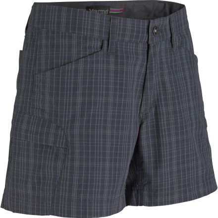 Kayak and Canoe Pack the Marmot Women's Ani Plaid Short for your next weekend of lakeshore, seaside, or mountaintop fun. Durable for searches through the bushes for lost Frisbees, quick-drying for impromptu canoe outings, and stylish enough for Happy Hour at the summit, this short may actually be one of the only things you need to bring. Ah, the joys of packing light. - $57.95