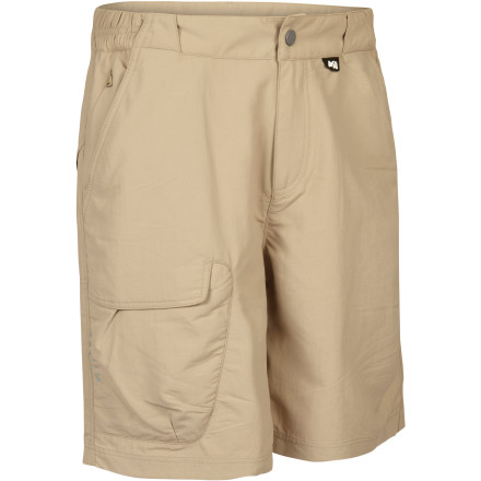 Camp and Hike If your favorite travel destinations usually involve a tropical latitude, be sure to pack the Millet Men's Globe Trotter Short. The lightweight Drynamic Bi-Face fabric wicks away sweat and dries quickly for warm-weather comfort while zippered security pockets protect your cash, passport, and valuables. - $59.95