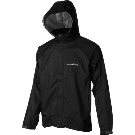 "When the rain falls in sheets and the thunder seems to shout, ""you shall not pass,"" zip up the MontBell Men's Thunder Pass Jacket and keep pushing forward. The 3-layer Super Hydro Breeze shell fabric and fully taped seams shrug off the wettest weather while the 16-inch pit zips and high breathability rating keep you ventilated and cool when you're moving fast in the mountains. - $98.95"