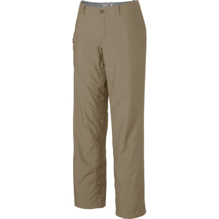 Camp and Hike The light, durable, and sharp-looking Mountain Hardwear Women's Ramesa Pant V2 Pant lets you move up the mountain or wall with tons of mobility and weather protection. A full-length inseam gusset encourages those far-reaching steps to get past that crux move or creek crossing; and a handy key clip and knife pocket conveniently secure your essentials. - $64.95