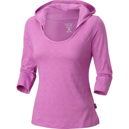 Sure, the Mountain Hardwear Women's Lochvale Slub Hooded Shirt has urban flair with its cool hood and striped detail, but it's more than fashion with its DriRelease tech yarns. This street-smart top has an outdoor-loving soul with its sweat-wicking, quick-drying, odor-resisting powers. So go from the park to trail to cafe with casual style and comfort to spare. - $64.95