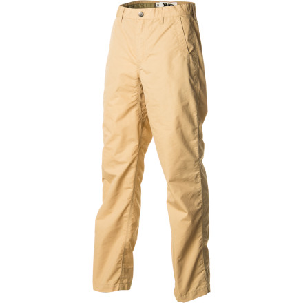 Although it might seem like your typical pant at first glance, the Mountain Khakis Men's Poplin Pant elevates comfort to a new level. A blend of synthetic and cotton material feels comfortable no matter what the weather, the peach finish adds a touch of smoothness inside and out, and an inseam gusset gives you increased freedom to move. This pant replaces your stiff work pants or your beat-up jeans as your go-to choice when the inlaws demand that you come over for dinner. - $79.95