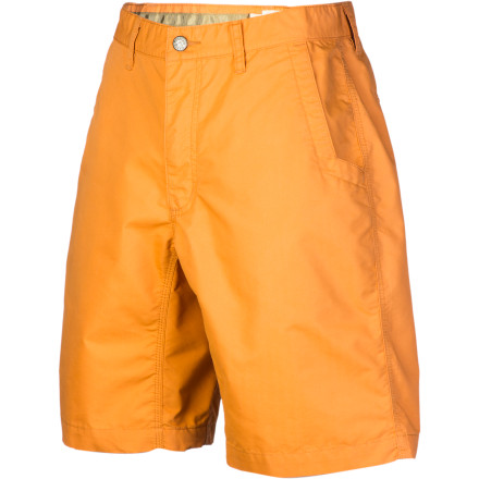 Warm summer days shouldn't be passed up. Pull on the Mountain Khakis Men's Poplin Short, throw open the front door, and enjoy the heat. This short has a blend of cotton and synthetic material to help you stay cool and comfortable, a gusseted crotch for mobility, and triple-stitched seams for the sort of durability that would impress even your grandfather. For a brand known for its pants, Mountain Khakis nailed this do-it-all casual short. - $64.95