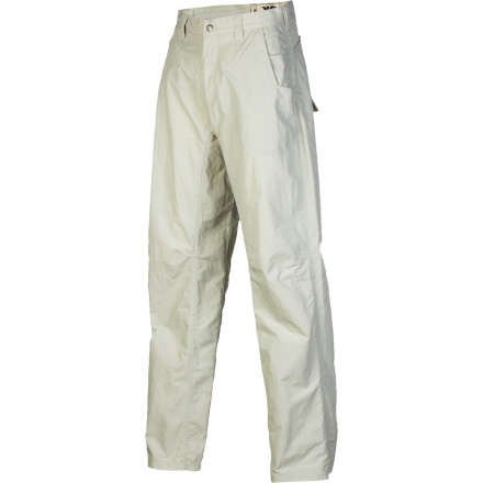 Camp and Hike Mountain Khakis is synonymous with high-quality pants and workwear. Its Men's Equatorial Pant is made with the same build quality and attention to detail, only the Equatorial was made with the traveler and the backcountry hiker in mind. The fit is relaxed, the inseam and knees articulated, and the midweight body material is coated so it repels water and light moisture. Easy to pack and even easier to move in, this pant takes on bushwhacks and day hikes just as easily as it conquers long hours of travel overseas. - $84.95