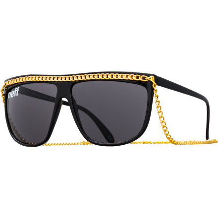 Camp and Hike It's not enough to just have a gold chain dangling from your neck these daysnow you need one from your sunglasses too. The Neff Jam Sunglasses will keep you looking fresh whether you're relaxing by the pool or gettin' down at the club. - $19.95