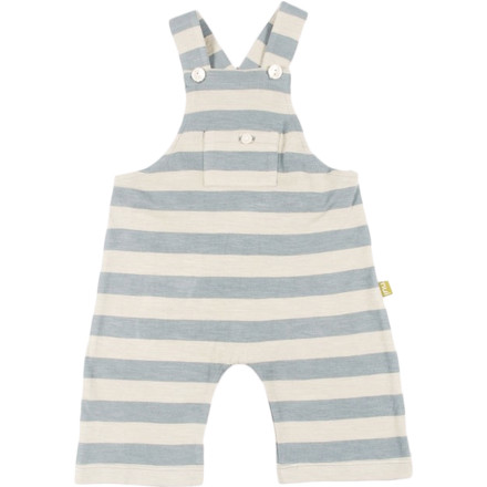 The Nui Organics Mundell Dungaree wraps your child in soft, sustainable comfort thanks to 100% organic cotton fabric with no harsh chemicals to irritate sensitive skin. Wearable alone for warm-weather playtime or over a tee for a little extra coverage. - $29.95