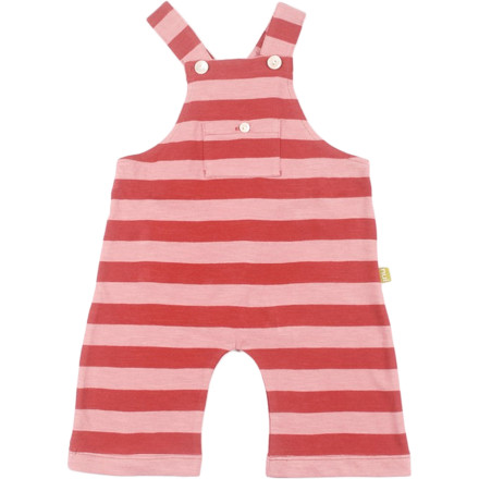 The Nui Organics Mundell Dungaree wraps your child in soft, sustainable comfort thanks to 100% organic cotton fabric with no harsh chemicals to irritate sensitive skin. Wearable alone for warm-weather playtime or over a tee for a little extra coverage. - $23.95