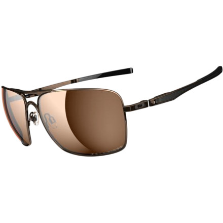 Camp and Hike The Oakley Plaintiff Squared Polarized Sunglasses give you classic aviator style and a high level of technical performance so even if you're wearing these shades for their swag factor, you'll get clear, undistorted view and solid protection from the sun. It's the best of both worlds, and it means that whether you wear these glasses around town, on a desert hike, or boating you'll look good and you're eyes will feel great. Plutonite lens exceeds ANSI 787.1 for impact-resistance and blocks 100% of UVA, UVB, and UVC light Polarized lenses cut horizontal glare from water's surface, the hood of your car, or the road for better vision in all lighting Iridium coating option aggressively blocks glare for a clearer view Oakley C-5 alloy frame combines fiver different metals for ultimate durability at a light weight Mono Shock hinges securely hold these sunglasses in place while allowing the earsterns to hyper-flex rather than break under stress - $200.00