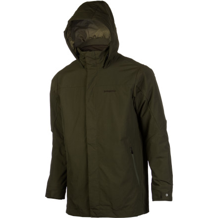 Year after year, Patagonia's athletes encounter some of the most unpredictable weather on the planet. Jackets like the Men's Venn 3-in-1 Parka are a reflection of this; both in design and execution. With a wind- and water-resistant shell on the outside and a removable insulated liner on the inside, this casual jacket allows you to adapt to the weather as you see fit. In true Patagonia style, the shell of the liner jacket is made of partially recycled materials, just like its insulation. - $209.30