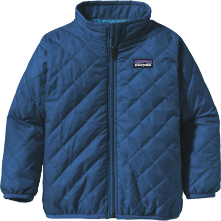 Ski Put the Patagonia Infant Boys' Nano Puff Jacket on your little ham when you shuffle him from home to the ski area's daycare center. This cozy jacket features PrimaLoft One insulation that keeps your guy toasty and comfortable in spring-like temperatures and that works great as a midlayer on stormy winter days. - $79.00