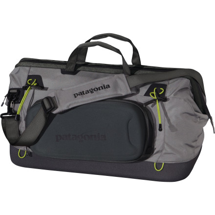 Entertainment Instead of letting your fishing gear scatter across the back of your truck, keep it organized with the Patagonia Stealth Gear Bag. The burly nylon fabric has a DWR finish for wet weather protection and a molded EVA foam bottom for structure and durability. A drop-down side panel features an interior fly keeper and exterior straps are designed to securely hold your rod case. - $149.00