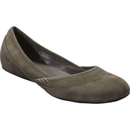 Entertainment The Patagonia Women's Maha Smooth Shoe definitively proves that beautiful, dressy shoes don't have to be painful. This well-constructed ballet flat offers a sophisticated leather upper with contrasting textures and oh-so-comfy support and cushioning underfoot. So go ahead, take a long stroll through the hillside Riviera town after dinner; your feet will enjoy it as much as you will. - $88.00