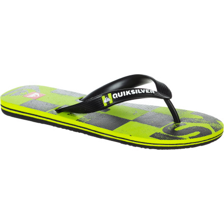 Surf The Quiksilver Kids Art Series Sandal jives with the juniors in a jubilee of joyous jumping and jumping jacks. - $10.80