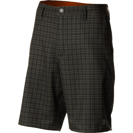 Surf The Quiksilver Waterman Off The Grid short gives you legit streetwear style with the added benefit of easy-moving, quick-drying, fully surfable stretch poly fabric. - $65.00