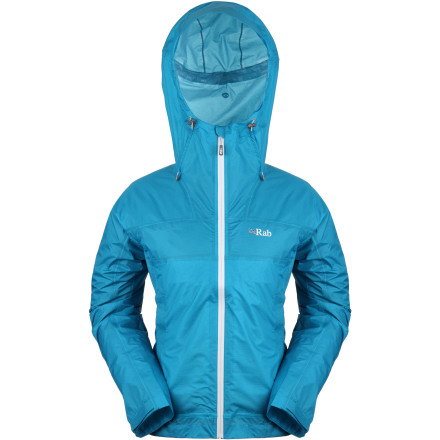 Fitness Pack the Rab Women's Kinetic Rain Jacket before embarking on your next alpine adventure. Gram-counting climbers can appreciate this jacket's ultra-lightweight Pertex shell, while hikers and backpackers who hate setting up camp soaked will laud the Kinetic's ability to shed the elements. - $92.48