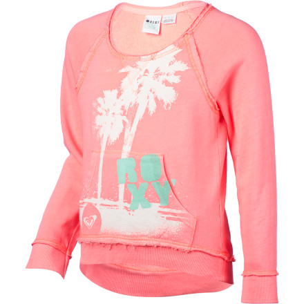 Surf There's nothing like snuggling up in a soft sweatshirt, so give your girl something can cuddle up in on chilly days with the Roxy Flicker Girls' Pullover Sweatshirt. - $42.00