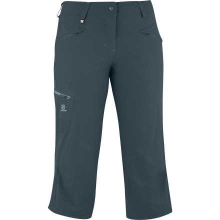 Camp and Hike Whatever you encounter on the trail, the Salomon Women's Wayfarer Capri Pant offers the just-in-case protection you need. The cropped length is versatile for three-season wear, while the softshell fabric features offers ClimaWind protection from chilly winds that can spring up in the mountains during day-long treks no matter what the season. - $79.95