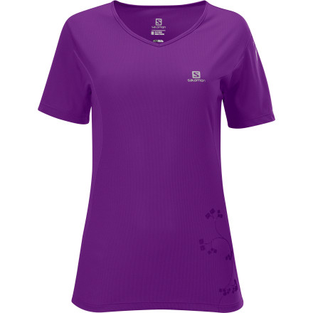 Fitness You could go for a lovely walk wearing the Salomon Women's Stroll Logo Short-Sleeve Shirt, as its name suggests. But its lightweight comfort and pretty graphic just might inspire you to break out into a run. - $29.95