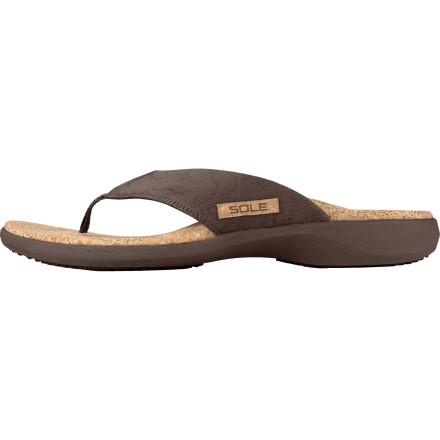 Surf The Sole Men's Cork Flip Flops use ergonomic design and moldable footbeds to fit the shape of your feet. You get a comfortable, custom fit that just gets better every time you wear them. - $63.16