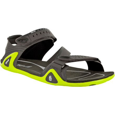 Surf Haven't you heard that less is more' That would explain the minimalist and insanely comfortable Teva Men's Northridge Sandal, with a streamlined upper, grippy Spider rubber sole and soft, silky microfiber footbed. Plenty of adjustment with hook-and-loop closure gives you a precision, performance fit; and a barely-there design lets your foot flex like nature intended. - $67.46