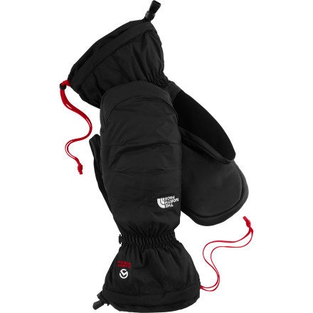 Built to expedition specs, The North Face Nuptse Mitten features a generous helping of 600-fill down. A nylon ripstop shell resists tears and abrasion, while a leather palm complements a tricot lining for an optimal blend of comfort and utility. Pull your long gauntlet up over your sleeve to fully seal out even the most heinous sub-zero gusts. - $49.98