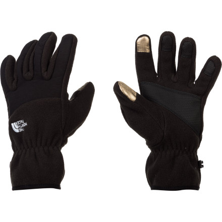 The North Face Women's Etip Denali Gloves solve your cool- to cold-weather texting woes. Instead of taking your gloves off, you can now leave them on and use the X-Static finger tips to text, call a friend, or change your music. Plus the 300-weight fleece fabric and women-specific 5 Dimensional fit provide comfort and warmth while you ride the lift in the spring, check out the mountain village scene, or commute to work. - $39.95