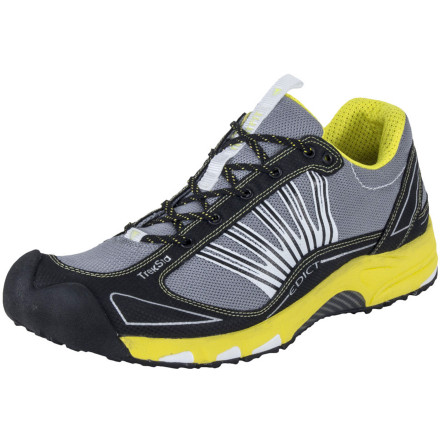 Fitness Obtain foot comfort on tough trails with the TrekSta Men's Edict II Trail Running Shoe. Unlike conventional shoe lasts that are made for a generalized foot shape, TrekSta measured the exact contours of 20,000 different pairs of feet and then made its NestFIT last that provides a seriously comfortable glove-like fit based on individual foot measurements. The triple-density EVA insole cushions strategic impact zones, and the semi-low sole profile helps add a bit of ground feel. - $107.96