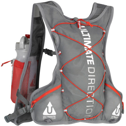 Fitness Our bodies are fueled by calories and water. Calories are easy to carry, but water ... water makes things more complicated. To solve this problem, Ultimate Direction teamed up with ultra-runner Anton Krupicka to create the AK Race Vest. Since Anton sticks to a 'less is more' philosophy, this vest is super light and contains only the features you need. A hydration bladder, although clever in design, is inconvenient to refill and it becomes a pain when it bounces around on your back. Water bottles are a much more elegant solution, and the AK Race vest allows you to carry two at chest-level, one on each shoulder strap. Here the bottles are free from the bounce caused by running on the trail and they're easy to grab for drinking or refilling. Behind these holsters lies a harness made of highly breathable Hex Mesh, and behind that, a stretchy storage compartment comprised of Power Mesh. Up to four liters of gear stashes away inside this mesh compartment and, because of its direct integration into the carrying harness, it gives this minimalist vest a seamless feeling that you'll swear is an extension of your own body.Bryce Thatcher founded Ultimate Direction and he began hand-sewing hydration packs in 1986. Since that time, Ultimate Direction's lineup has expanded dramatically and now includes signature pieces born of collaborations with professional athletes. Compared to other minimalist hydration systems like the SJ Ultra Vest or the PB Adventure Vest, the AK Race Vest is the lightest and most streamlined model. With his initials in the name, professional runner Anton Krupicka wouldn't have it any other way. - $89.95