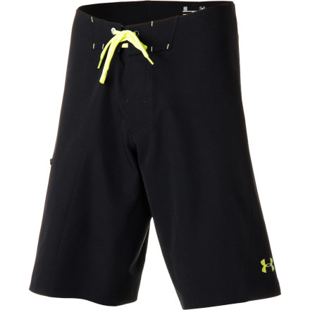 Surf The smooth, quick-drying Under Armour Men's Grovepoint Board Short is as at home in the surf as you are. Its four-way stretch lets it move with the motion of the ocean, and its Storm DWR finish repels water so it doesn't get bogged down and water-logged. Chafe-free design and durable welded construction mean comfort and longevityfor you and the short. - $79.95