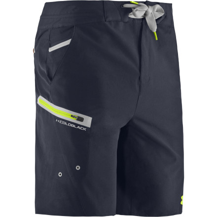 Fitness After dominating the world of technical sports apparel for years, Under Armour has stepped into the world of fishing with pieces like the Men's Coldblack Abyss Board Short. Technical through and through, this short features fabric with four-way stretch, welded seam construction, a water-repellent coating, and a treatment that fights off odor-causing bacteria. Hitting the water in search of fish means that you're going to be carrying a knife, that's a given, so among this short's array of pockets there's one specifically for your knife. - $79.95