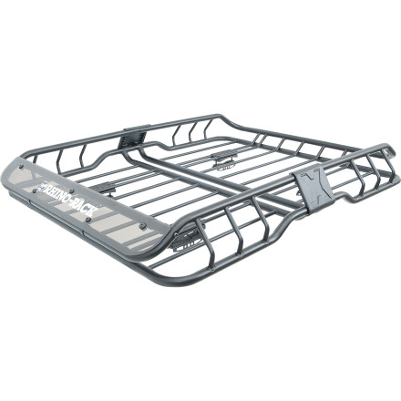 In order to do a trip right, you've got to bring the right gear. Keep your essentials organized and secure in the Rhino Rack Roof Mount Cargo Basket. Boasting a whopping carrying capacity of 75kg, the Roof Mount Cargo Basket can also hold unruly children if the back seat gets too rowdy. - $259.00