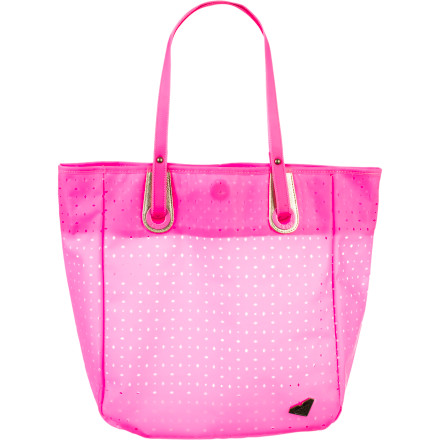 Surf The bold and durable Roxy Women's Parade Tote Bag holds all your gear for the day in water-resistant protection and low-maintenance beauty. Toss it all in and hit the beach or park well-equipped and in bright, surfer-girl style. - $42.00