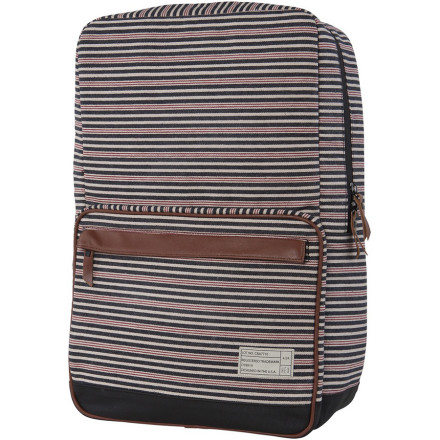 Camp and Hike Skip all the straps and extraneous pockets and keep your school pack simple with the Hex Cabana Collection Origin Backpack. A laptop compartment stores your computer and leather details give it a classy look to help you stay stylish whether you're off to work or class. - $55.97
