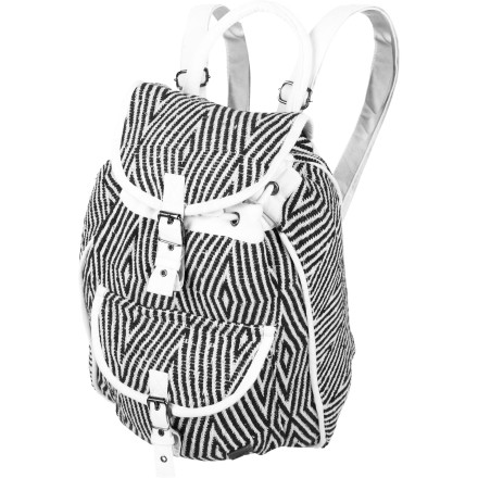 Camp and Hike Make sure you're ready for action, wherever you wander. The Roxy Drifter Casual Backpack features a drawstring closure, large interior pocket, and a convenient pouch pocket in front. Grab your bag and hit the road, Roxy girl! - $43.40