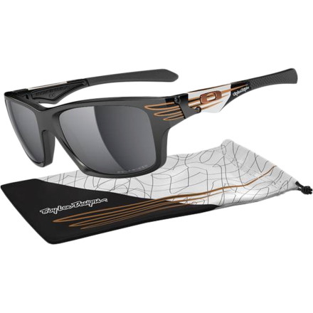 Camp and Hike Troy Lee Designs has been boosting style on everything from bike helmets to guitars, and now he's dropped his style on the Oakley Troy Lee Signature Series Jupiter Squared Polarized Sunglasses. You get the high-performance tech you need and the slick swag you want. - $200.00