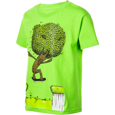 Skateboard The Element Gap Boys' Short-Sleeve T-Shirt proves that trees not only make great skateboard materials, but also make great skateboarders. Who knew - $17.95