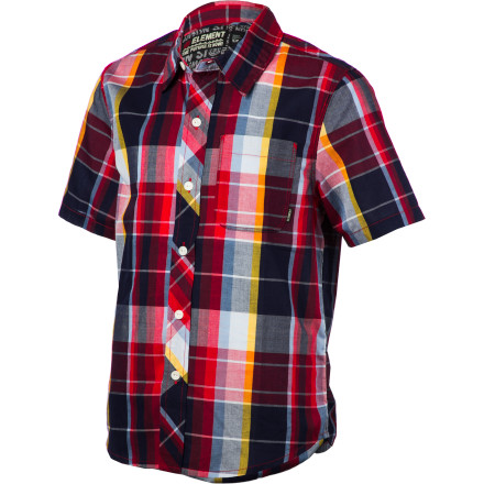 Skateboard Sharpen up your kid's look a bit with the plaid Element Larchmont Boys' Short-Sleeve Shirt. - $44.45