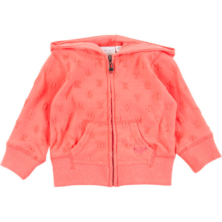 Surf Keep your baby warm when a cool breeze is blowing off the water with the Roxy June Dune Zippy Infant Girls' Full-Zip Hoodie. - $39.50