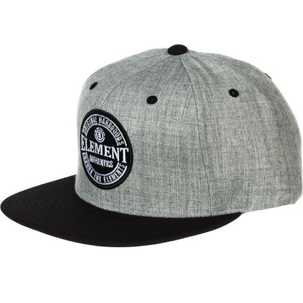 Skateboard Whether you're cruising around the skatepark or chasing down fly balls in beer league softball, keep the sun out of your eyes with the Element Ball Park Snapback Hat. - $21.95