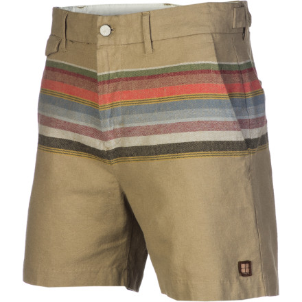 Surf The suiting-style Insight Alamo Short features a fresh woven stripe pattern and a super-modern fit that hits well above the knee. - $41.21
