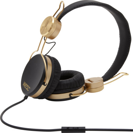 Entertainment Sleek and stylish, you'll love the clean look of the WeSC Banjar Golden Headphones almost as much the crisp, powerful sound produced by the 40mm drivers. Plush padded ear cushions allow you to comfortably listen to your favorite tunes all day long, and an in-line microphone makes it so you don't even have to take them off when someone calls you on your smartphone. Simply press a button on the cord to answer the call and listen directly through the headphones while speaking through the mic. - $76.95