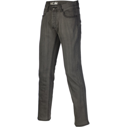 Skateboard Pants that are too tight restrict movement and super baggy jeans just make you feel like you're swimming when you try to skate in them. Find some middle ground with the Etnies Rojo Men's Denim Pant. It has a straight leg fit and is woven with stretch denim for a comfy, flexible feel. - $64.95