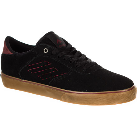 Skateboard The Emerica Liverpool Skate Shoe offers a low-pro silhouette with enough padding to keep your feet feeling fresh after a full day of skating. A full-length high-impact midsole cushions those big drops and helps you avoid heel bruises. - $51.96